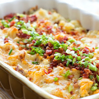 Chicken Bacon Ranch Potato Casserole.