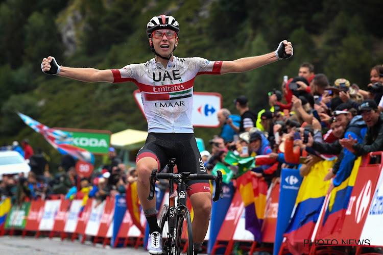 Pogacar wint loodzware rit naar Los Machucos, Roglic verstevigt leidersplaats