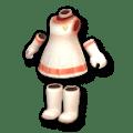 白いコンパニオン・ピンクヘム