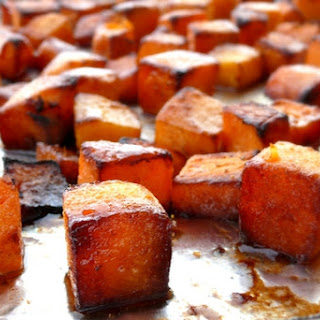 Roasted Brown Sugar-Five Spice Butternut Squash.