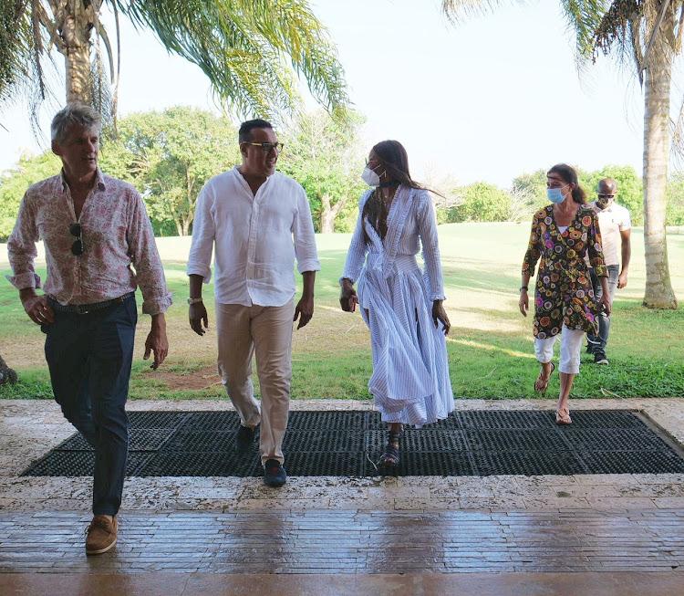 Naomi Campbell with CS Najib Balala