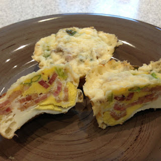 Easy Low Carb Bacon, Egg & Cheese 'muffins'.