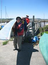 Photo: Hauling the boats up the ramp at Papa's Allen, Alan, Carol and Roberta