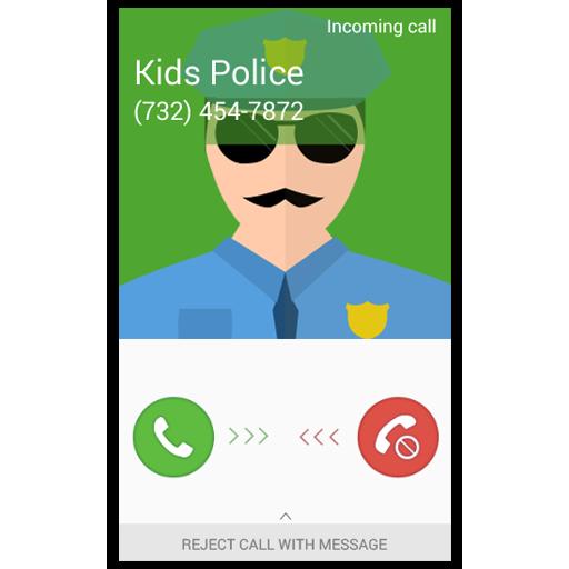 Fake Call Kids Police Icon