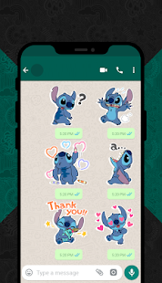 Blue Koala Stitch Stickers for WhatsApp Screenshot