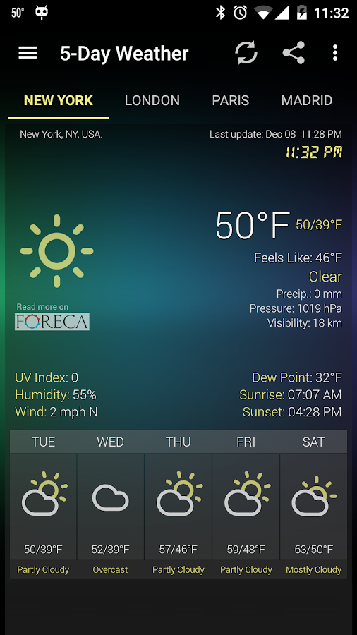 Weather & Clock Widget for Android Ad Free- screenshot