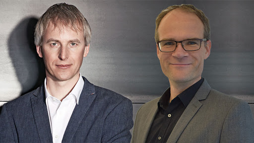 New Bridgestone Mobility Solutions CEO Jan-Maarten de Vries (left) and COO Michiel Wesseling.