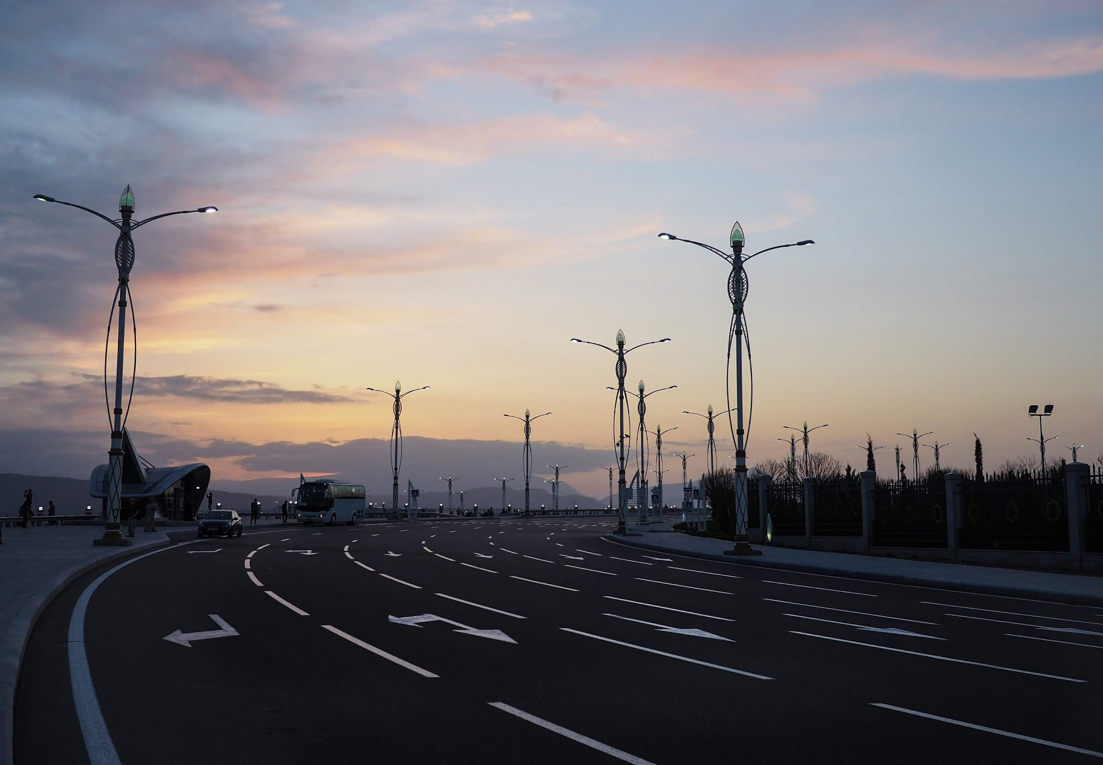 The empty streets of Ashgabat