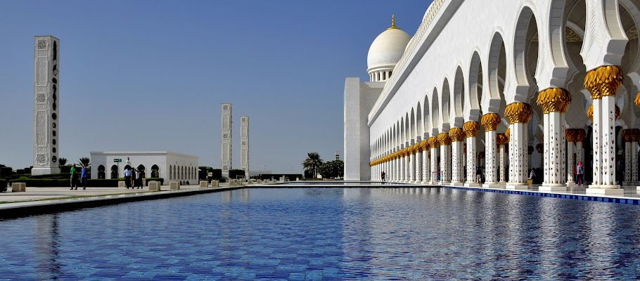 Moschea Bianca Abu Dhabi di lopicchio
