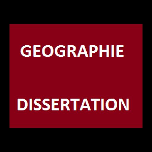 Géographie - Dissertation