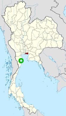 rood = Samut Prakan, groen = Hua Hin
