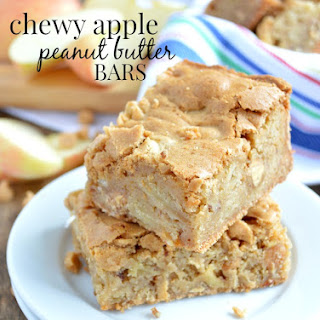 Chewy Apple Peanut Butter Bars