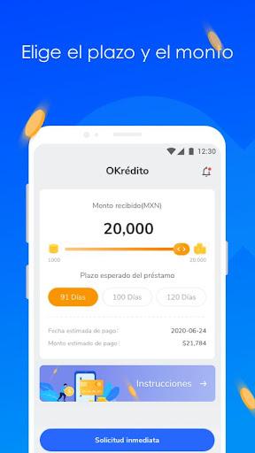 Préstamos crédito en efectivo cash  - OKrédito  screenshots 2