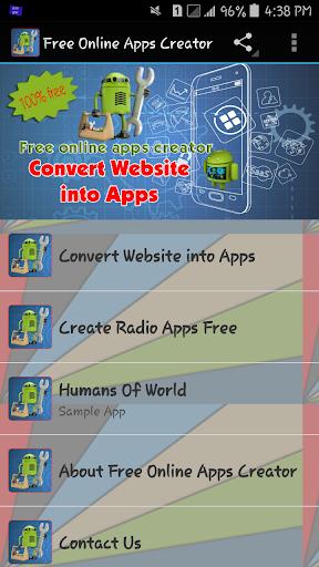 Free Online Apps Creator