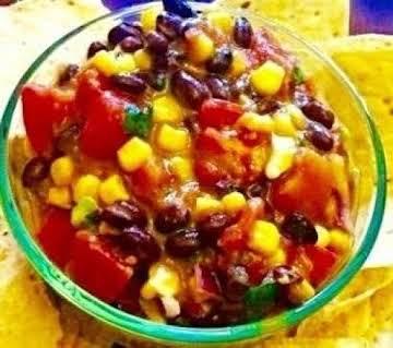 Mexican Corn and  Black Bean Avocado Salsa