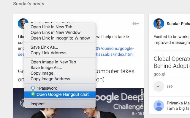 google hangout chrome extension