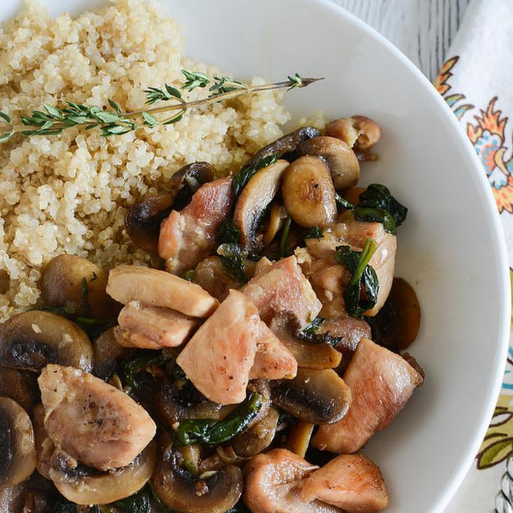 Chicken Marsala Quinoa Bowls Recipe