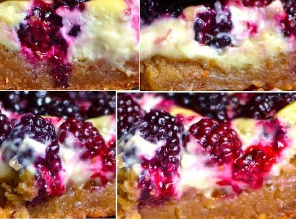 Blackberry Walnut Cheesecake Squares