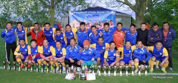 बेलायतमा भएको यलम्बरहाङ कप २०१७ भेटरेन र सुपर भेटरेन दुबै उपाधि एफसी केन्टको पोल्टामा