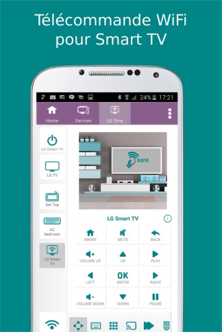 t l commande sure universal applications android sur. Black Bedroom Furniture Sets. Home Design Ideas