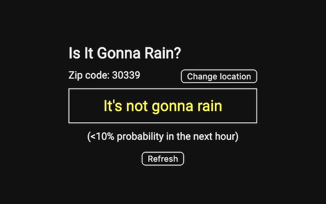 Is It Gonna Rain?