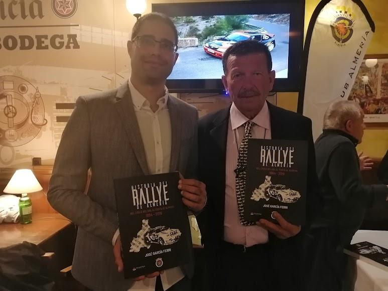 Con el presidenente del Club Automóvil Almería, Pepe Collado.