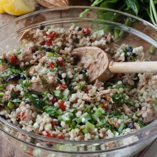 Israeli Couscous & Tuna Salad.