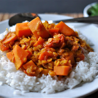 Coconut Curry Lentils and Sweet Potatoes Recipe