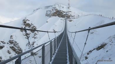Photo: Europas högst belägna hängbro.