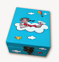Photo: Caja de madera pintada en acrílico y barnizado, interior en madera natural. El tamaño de la caja y por lo tanto de su precio puedene variar,