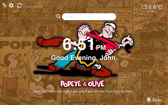Popeye HD Wallpaper Tab Theme