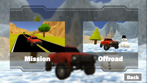 4×4オフロード車の運転3D