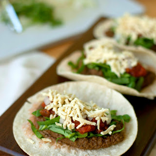 Healthy Homemade Refried Bean Tacos.