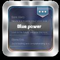 Blue power GO SMS icon