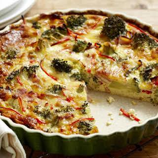 Crustless Broccoli Quiche.