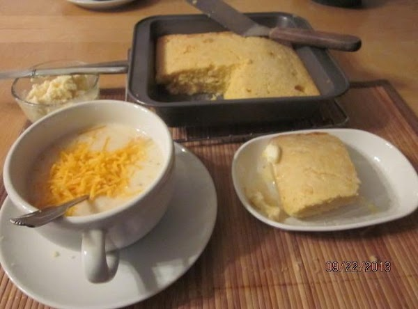 Enjoy alone, with crackers or cornbread with whipped honey butter.  Yum!