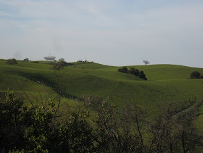 Photo: The Stanford Dish Trail in the distance