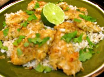 Oven Fried Coconut Chicken