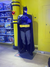 Photo: Batman made of LEGOs in FAO Schwarz