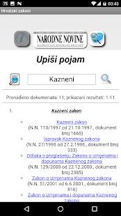 Hrvatski zakoni - náhled