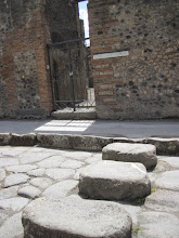 Photo: Stones always placed the same distance to allow carts through. People only crossed streets on the stones because they were basically an open sewer.