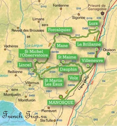 Окрестности города Маноск (Manosque), Прованс, Франция