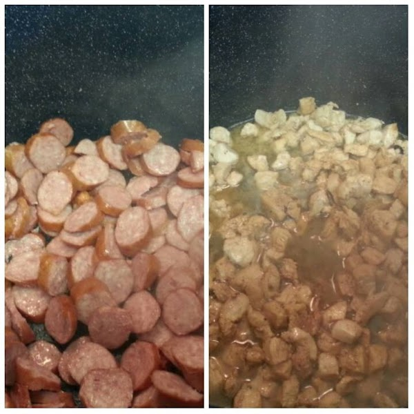 Heat oil in a Dutch oven or large stew/stock pot over medium-high heat. Add...