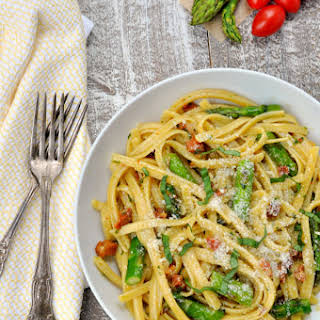Roasted Asparagus Carbonara.