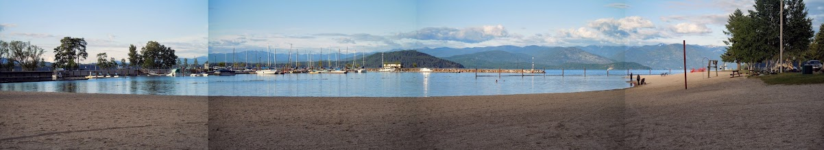 Photo: Panoramic view of the Sandpoint beach