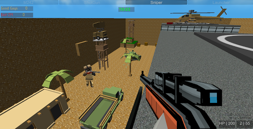 shooting zombie blocky gun warfare screenshot 3