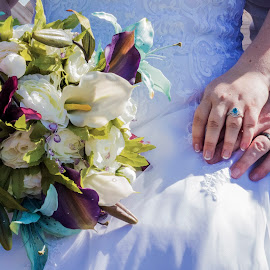 Two Hands to Hold by Ally Schumacher - Wedding Details ( bride, dress, groom, rings, bouquet )