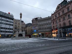 Photo: Some monument in Náměstí Svobody, the main square.