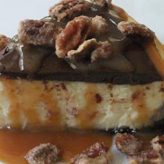 Chocolate-Caramel-Pecan Cheesecake Bliss