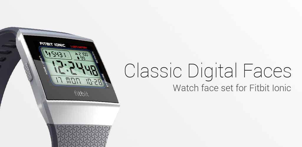 Classic Digital Faces - Watchface for Fitbit Ionic 1 1 Apk